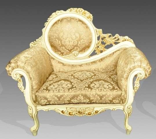 Золотая банкетка в стиле барокко Жозефина
