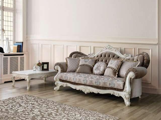 Мягкий диван в дорогой серой обивке Венеция, Турция