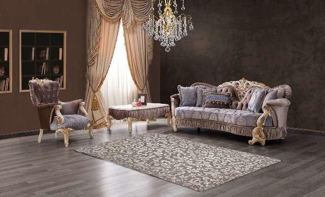 Классический резной диван Густо в стиле барокко, Турция