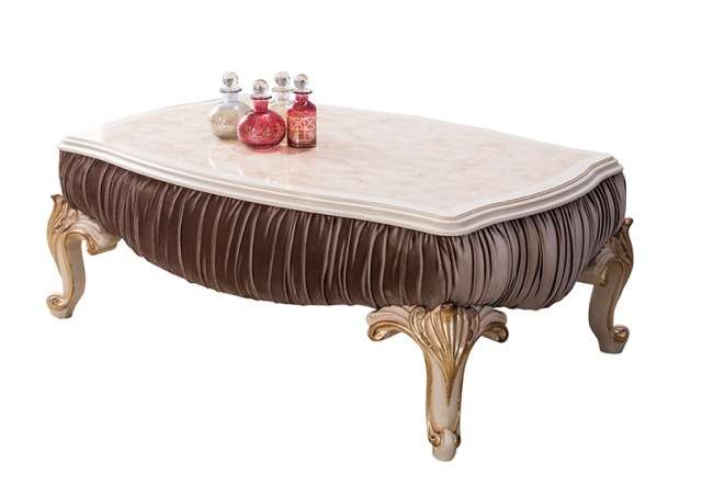 Прямой журнальный столик Густо в стиле классика с драпировкой