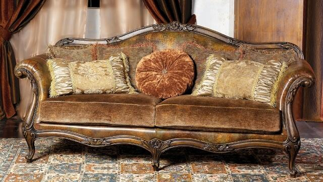 Кожаный классический диван итальянского производства: MANTELLASSI divanos.com.ua