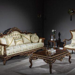 Классический турецкий диван с креслами Чириган