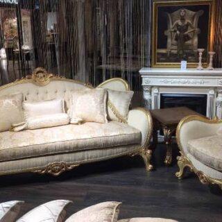 Мягкий диван с креслами СОХО в стиле барокко