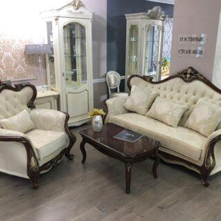 Комплект мягкой мебели Клеопатра в стиле классика