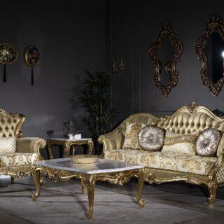 Набор мягкой мебели Мария в золоте