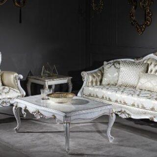 Белый прямой диван Нора, Турция