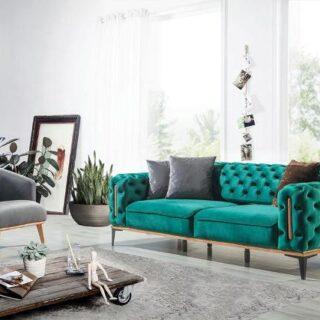 Стильный диван Арес в стиле капитоне