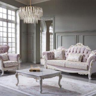 Розовый набор мягкой мебели Гюрем в гостиную, BELLA
