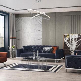 Велюровый современный диван Диамант