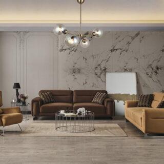 Прямой диван с раскладкой Гуччи с креслами