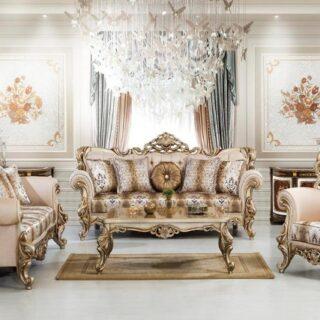 Резной диван с креслами Султан в стиле итальянского барокко